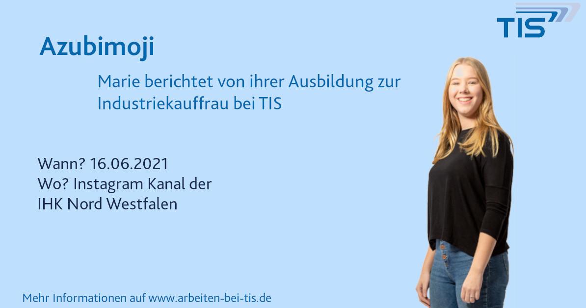 Azubimoji Aktion der IHK | Marie Bier berichtet über die TIS GmbH