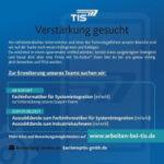Verstärkung gesucht | TIS GmbH